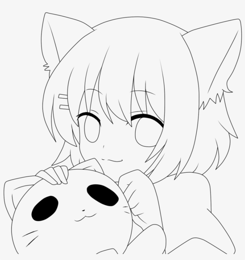 coloring pages anime no color chibi anime girl drawing at getdrawings free download anime coloring no color pages