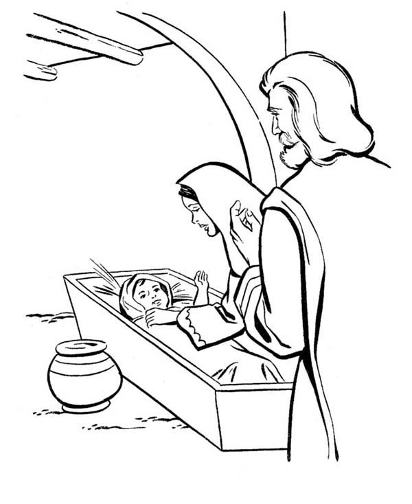coloring pages baby jesus baby jesus and family free colouring pages pages coloring baby jesus