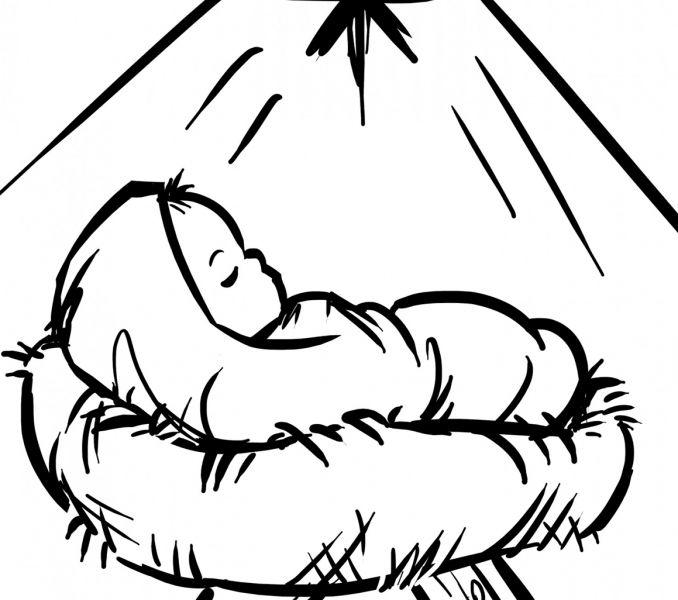 coloring pages baby jesus baby jesus in manger coloring page get coloring pages baby coloring jesus pages