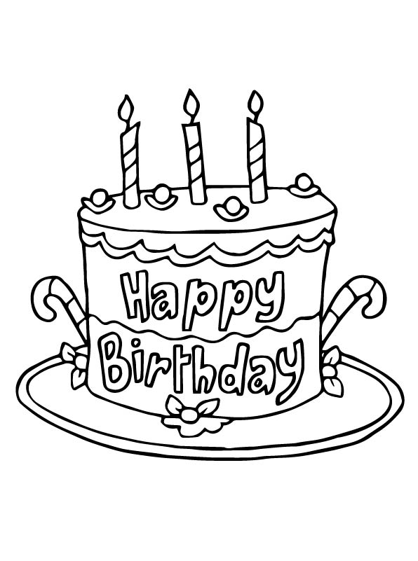 coloring pages cake free printable birthday cake coloring pages for kids coloring cake pages