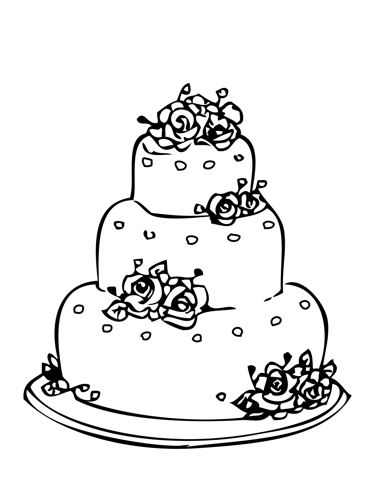 coloring pages cake free printable birthday cake coloring pages for kids coloring cake pages 1 1