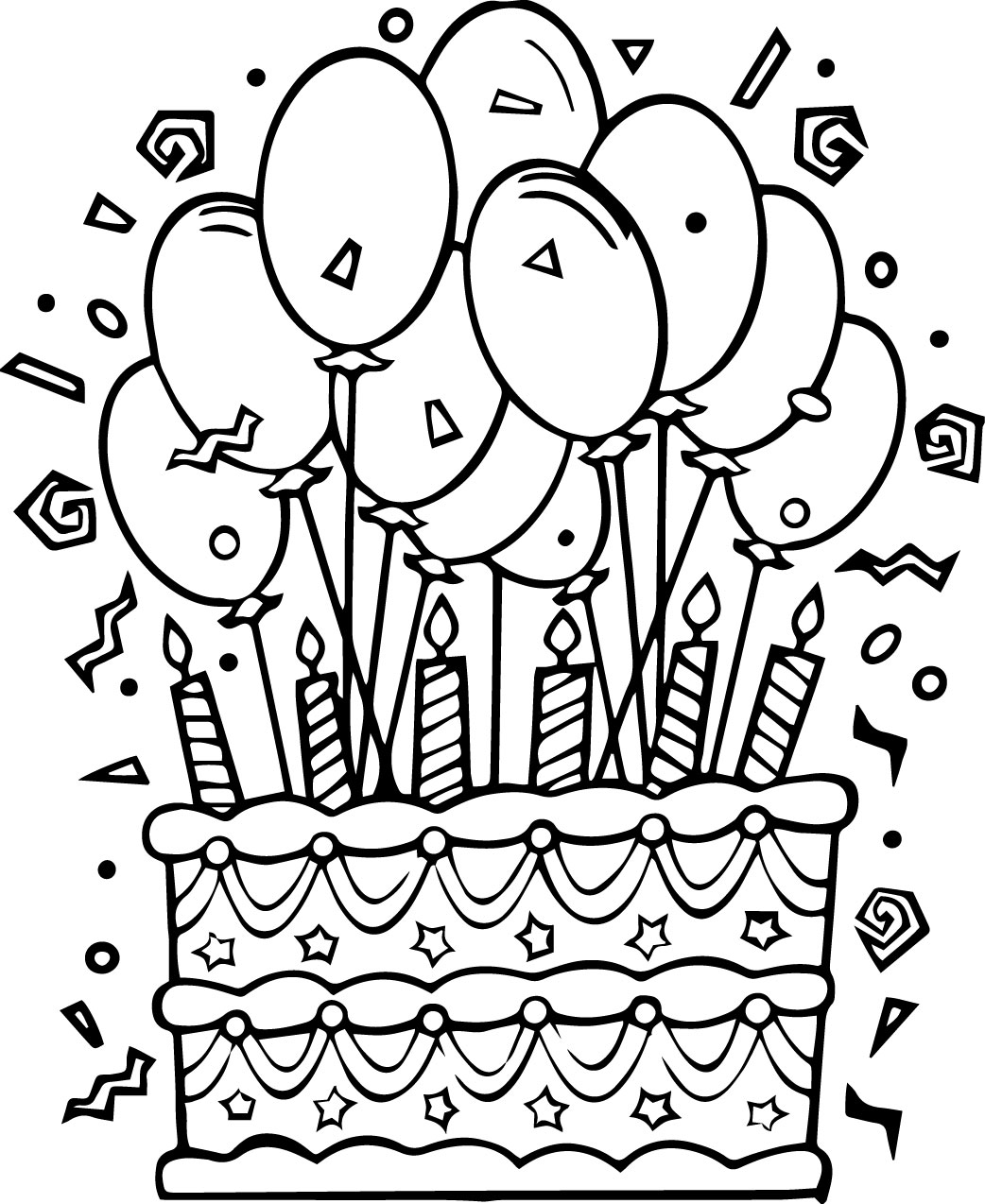 coloring pages cake free printable birthday cake coloring pages for kids coloring pages cake 1 1