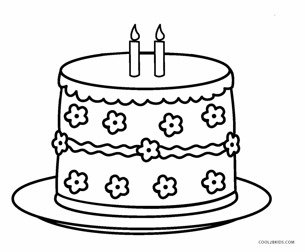 coloring pages cake free printable birthday cake coloring pages for kids coloring pages cake 1 2
