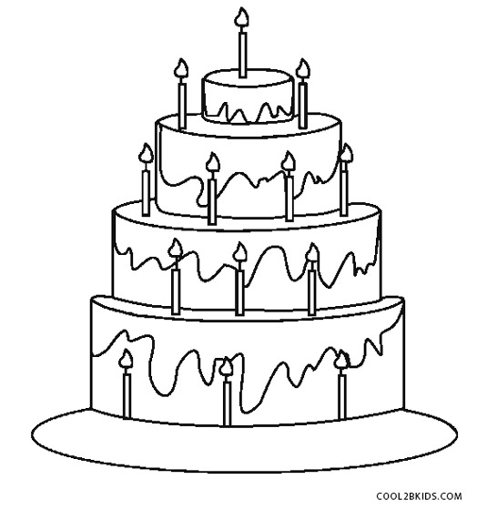 coloring pages cake free printable birthday cake coloring pages for kids pages cake coloring