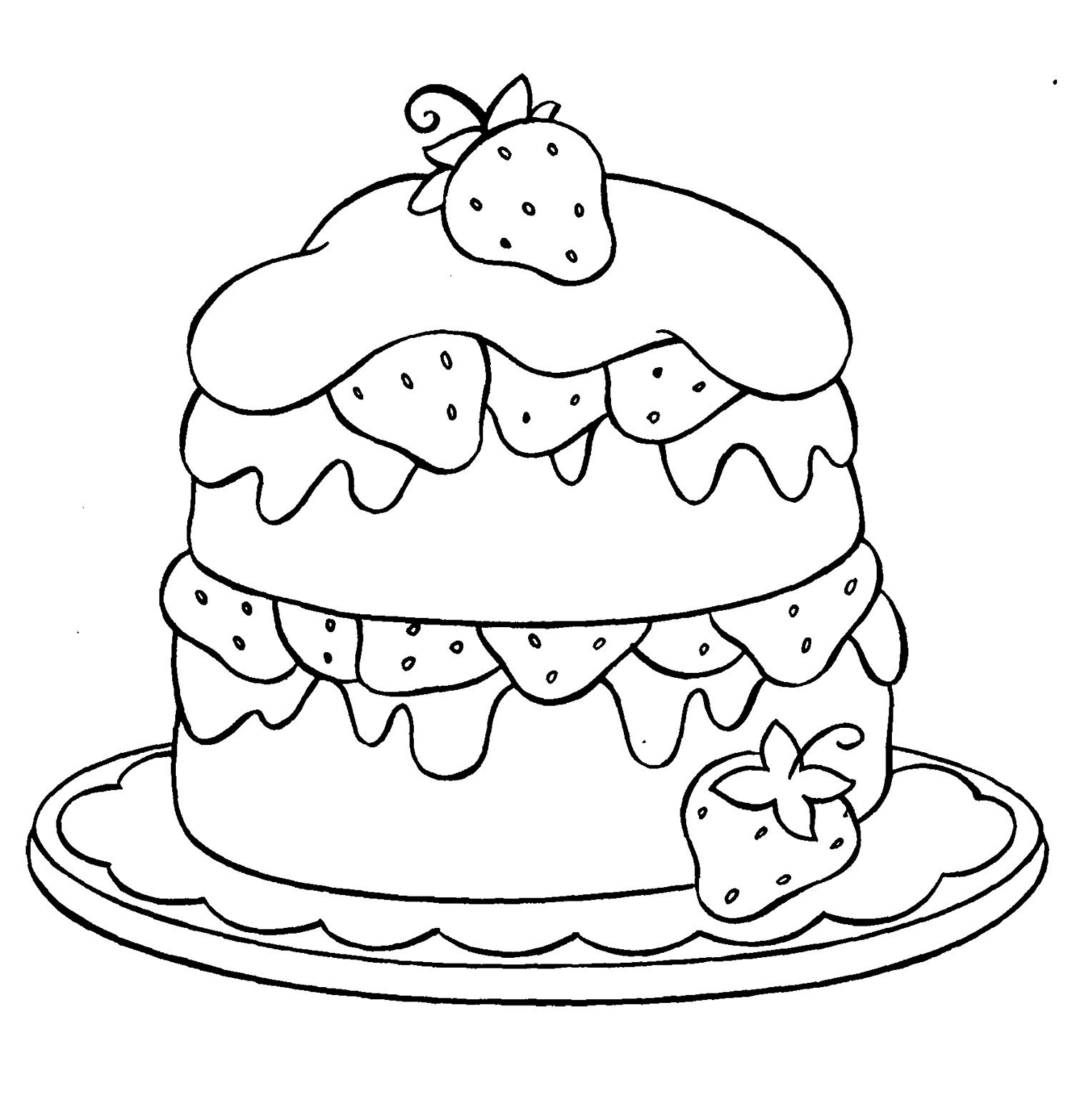coloring pages cake free printable birthday cake coloring pages for kids pages coloring cake