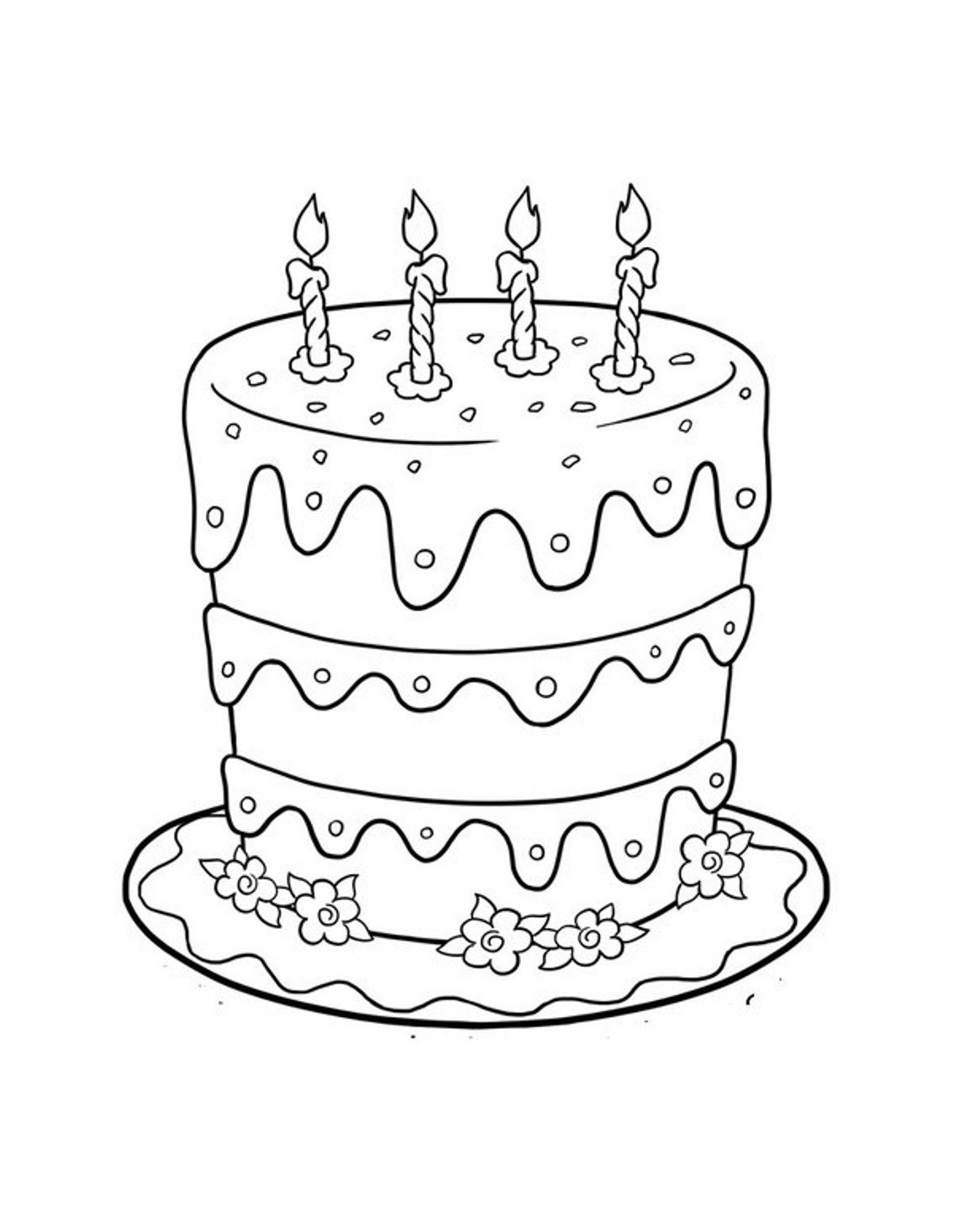 coloring pages cake kids n funcom create personal coloring page of birthday pages coloring cake