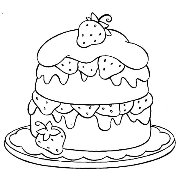 coloring pages cake strawberry cake coloring pages best place to color cake pages coloring