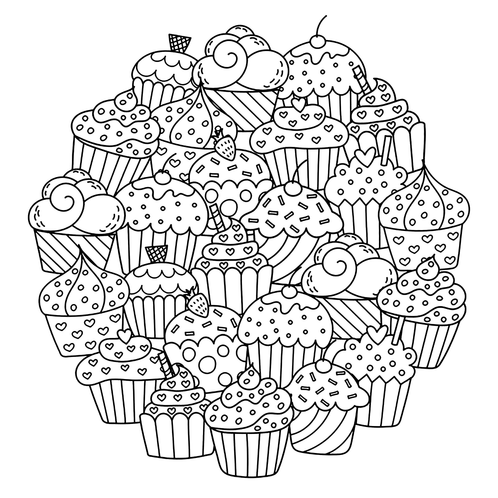coloring pages cupcakes cupcakes and cakes to color for kids cupcakes and cakes coloring cupcakes pages