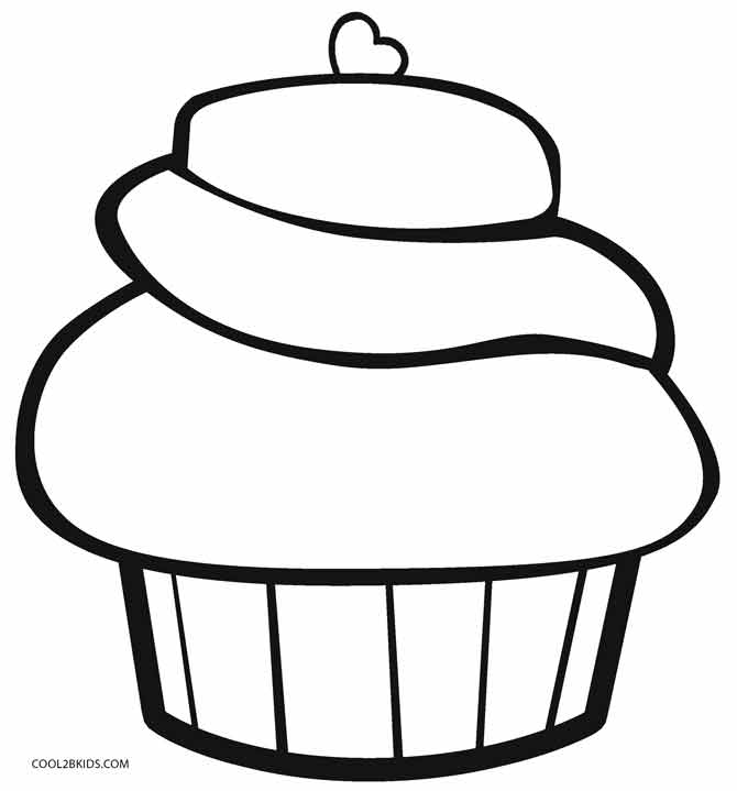 coloring pages cupcakes flower topping cupcake coloring page netart pages coloring cupcakes