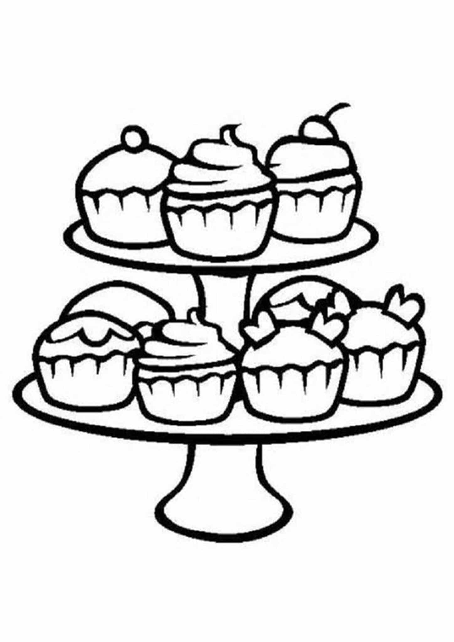 coloring pages cupcakes free printable cupcake coloring pages for kids cupcakes coloring pages