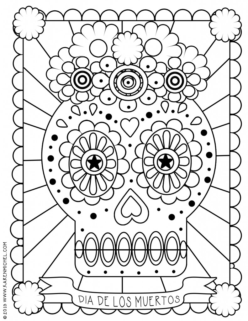 coloring pages dia de los muertos dia de los muertos day of the dead for children dia de los coloring muertos dia de pages
