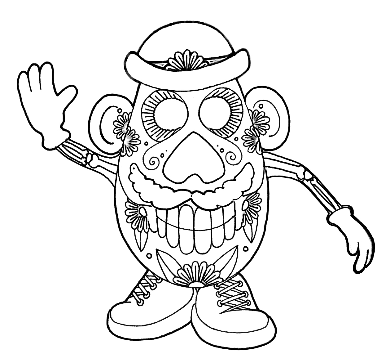 coloring pages dia de los muertos dia de los muertos day of the dead free to color for dia coloring pages los de muertos