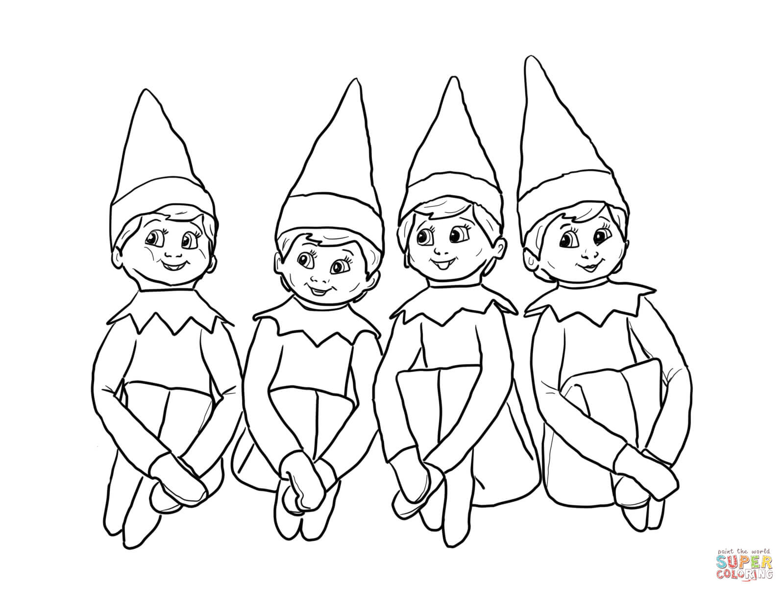 coloring pages elves coloring pages elves elves coloring pages