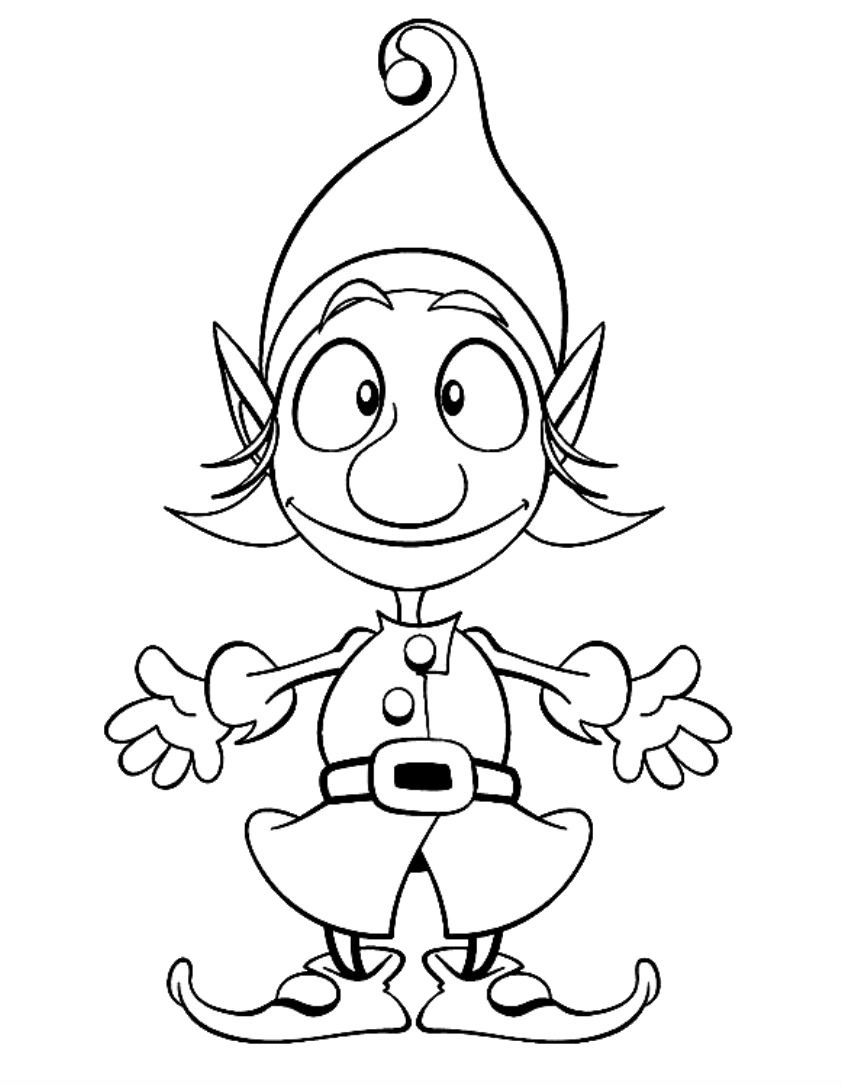 coloring pages elves simple elf drawing at getdrawings free download pages coloring elves