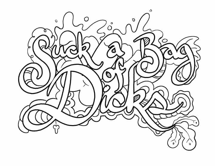 coloring pages for adults cuss words curse word coloring pages at getcoloringscom free words adults cuss for coloring pages