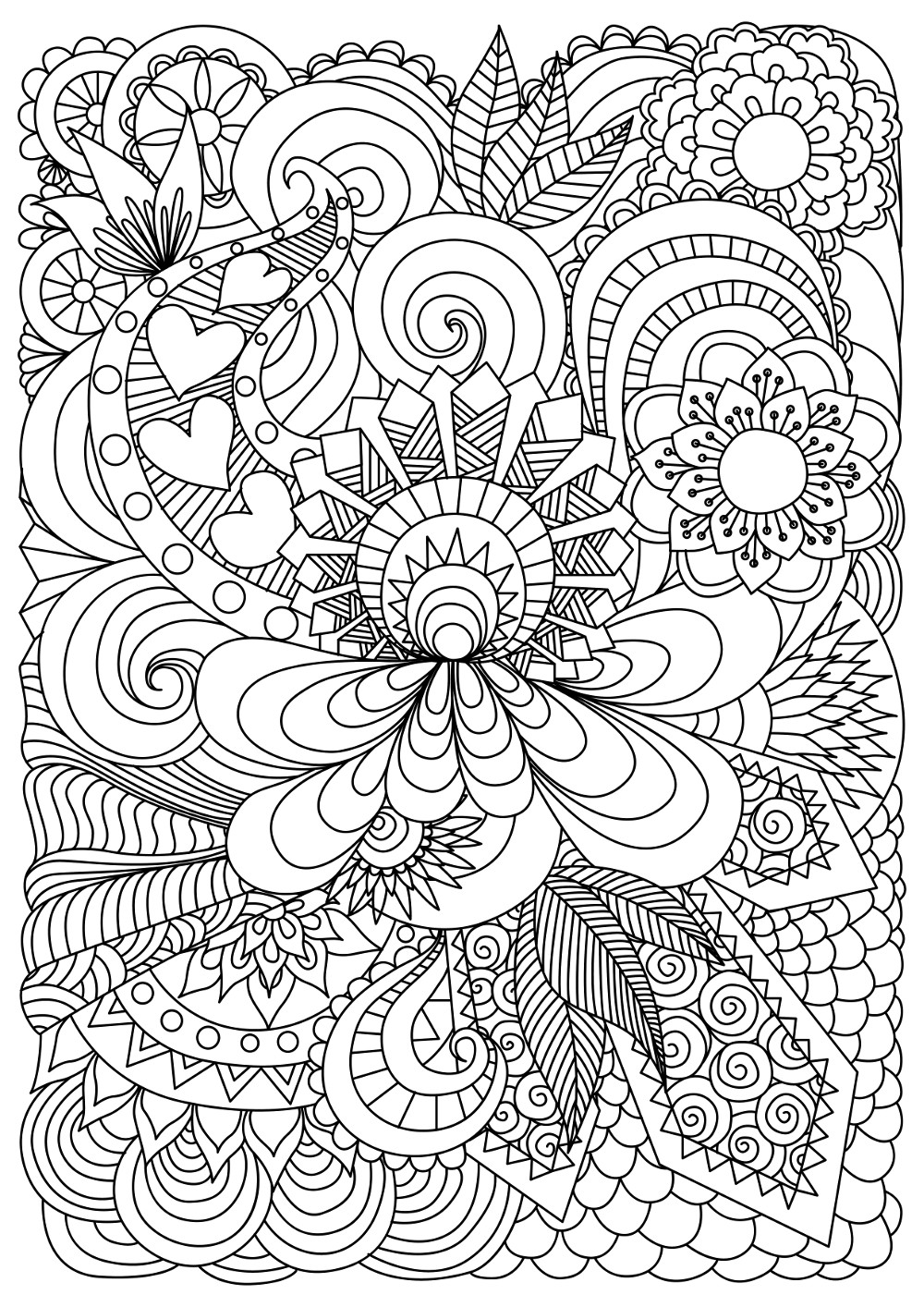 coloring pages for adults patterns large print adult coloring book 4 big beautiful patterns for pages coloring adults