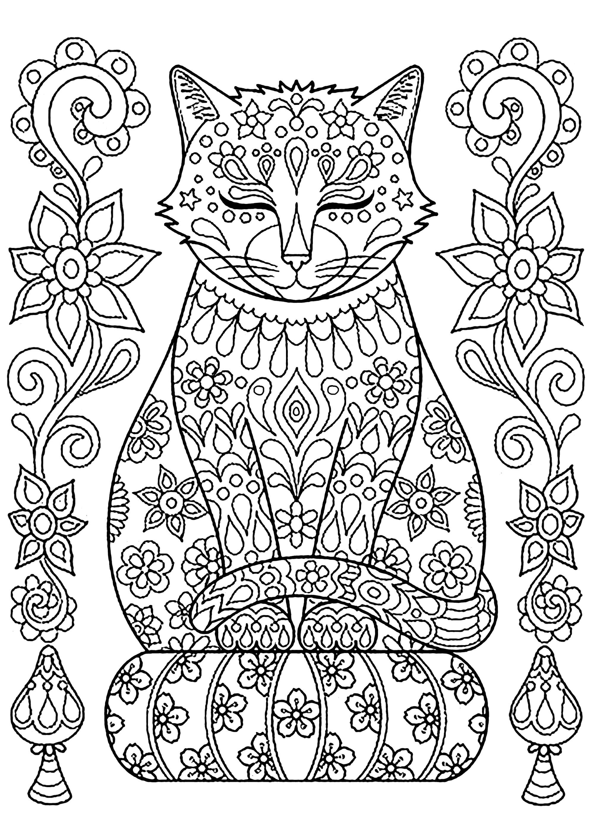 coloring pages for girls cat cute cat coloring pages to download and print for free girls pages for coloring cat