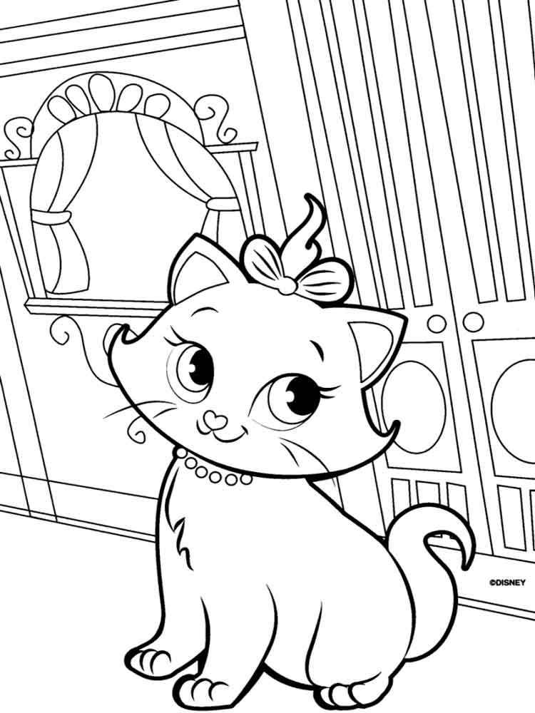 coloring pages for girls cat cute cat on pillow with flowers cats coloring pages for girls coloring cat pages for