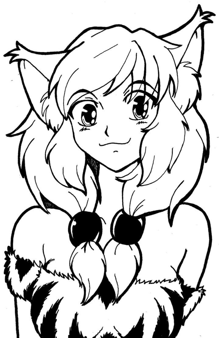 Coloring pages for girls cat