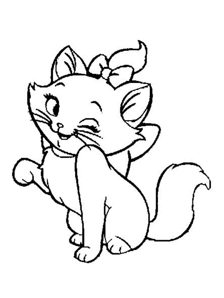 coloring pages for girls cat disney marie cat coloring pages free printable disney pages girls coloring for cat