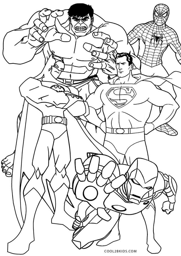 coloring pages for kids super heros free printable superhero coloring pages for kids kids pages heros coloring for super