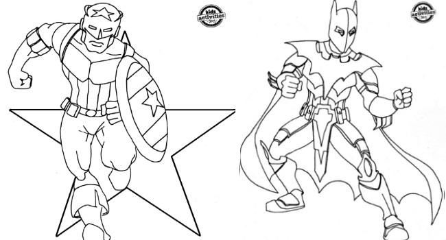 coloring pages for kids super heros superhero inspired coloring pages super pages coloring kids for heros