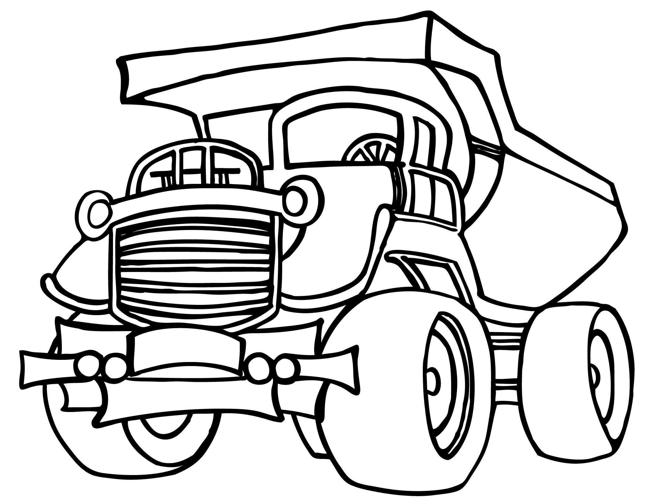 Coloring pages for kids truck