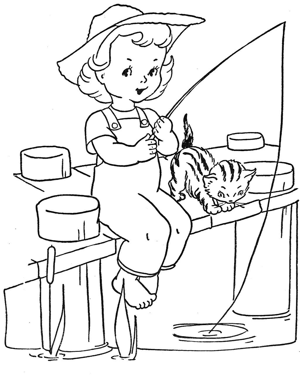 coloring pages for little girls little girl fishing coloring pages google search little girls pages coloring for