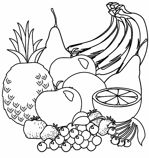 coloring pages fruit 62 best fruit groente kleurplaten images on pages coloring fruit