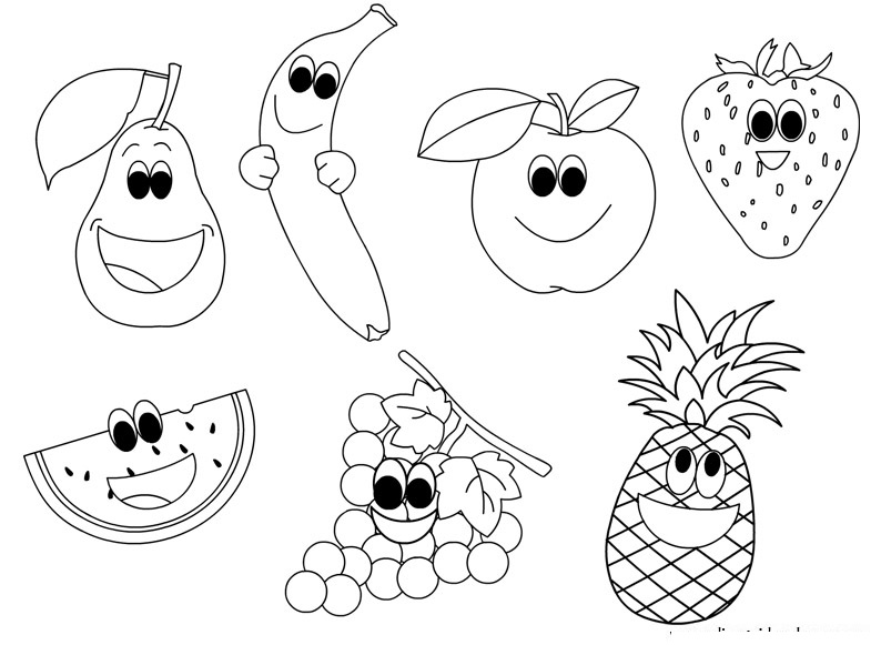 coloring pages fruit craftsactvities and worksheets for preschooltoddler and pages fruit coloring