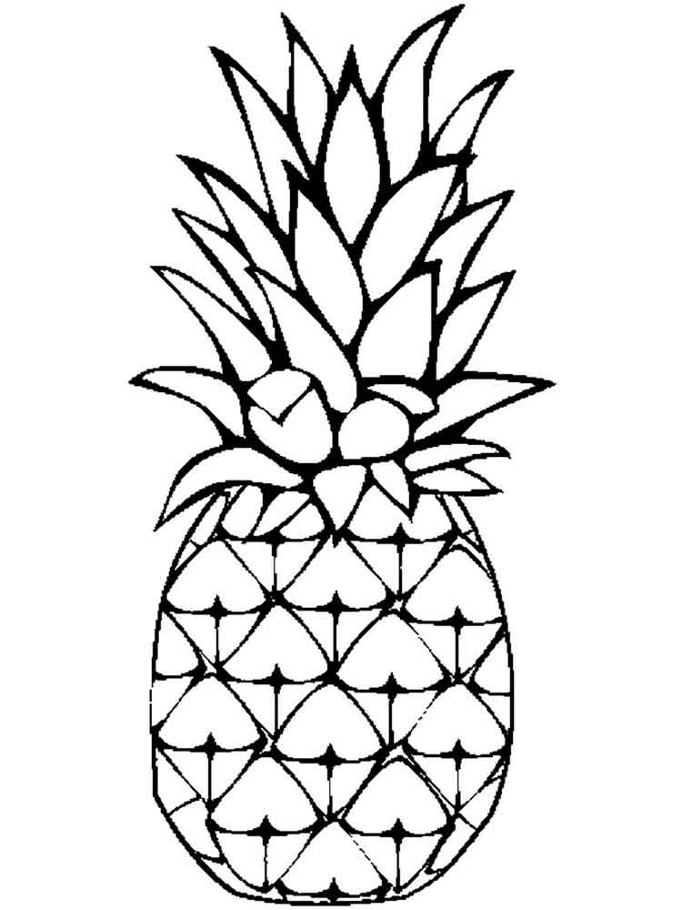 coloring pages fruit pineapple coloring pages download and print pineapple pages coloring fruit