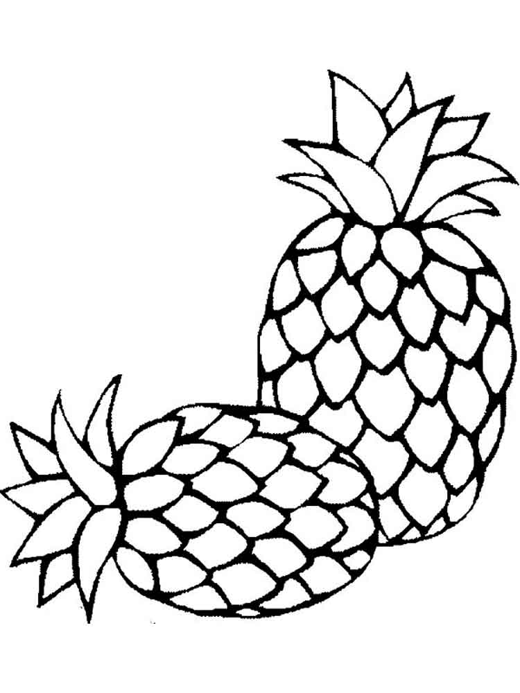 coloring pages fruit pineapple coloring pages download and print pineapple pages fruit coloring