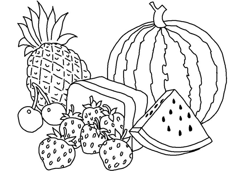 coloring pages fruit various types of fruits coloring page kids play color pages fruit coloring