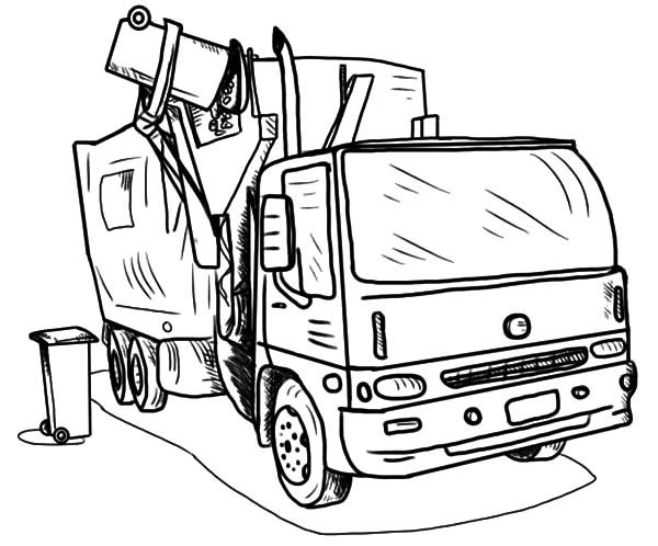coloring pages garbage truck garbage truck coloring page coloring pages truck garbage