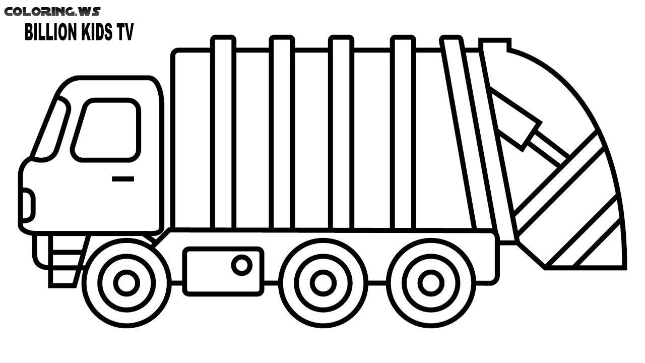 coloring pages garbage truck garbage truck coloring page truck coloring pages the coloring truck garbage pages