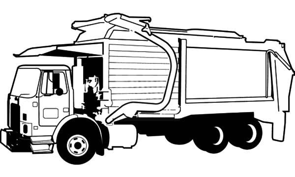 coloring pages garbage truck garbage truck coloring pages for kids grbtrck garbage coloring truck garbage pages