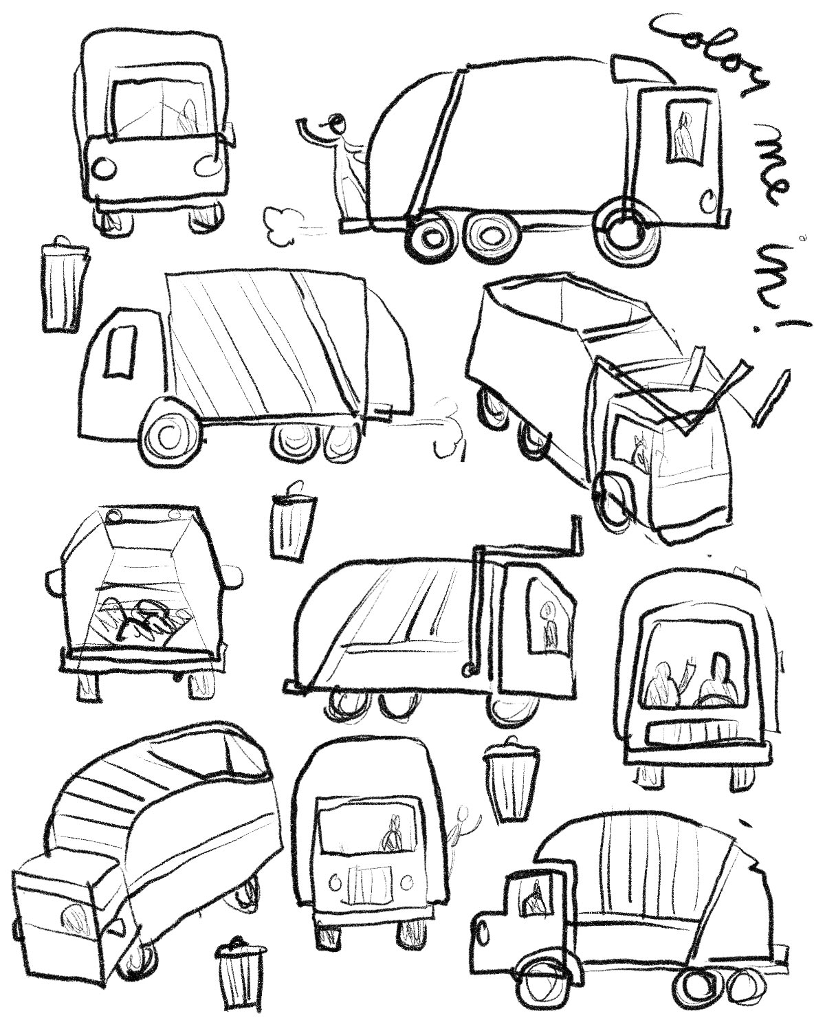 coloring pages garbage truck garbage truck daily activity coloring pages download truck pages garbage coloring