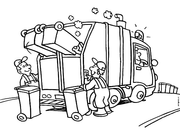 coloring pages garbage truck garbage truck printable coloring page get coloring pages garbage coloring truck pages
