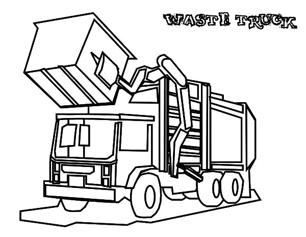coloring pages garbage truck garbage waste truck coloring pages download print pages coloring garbage truck