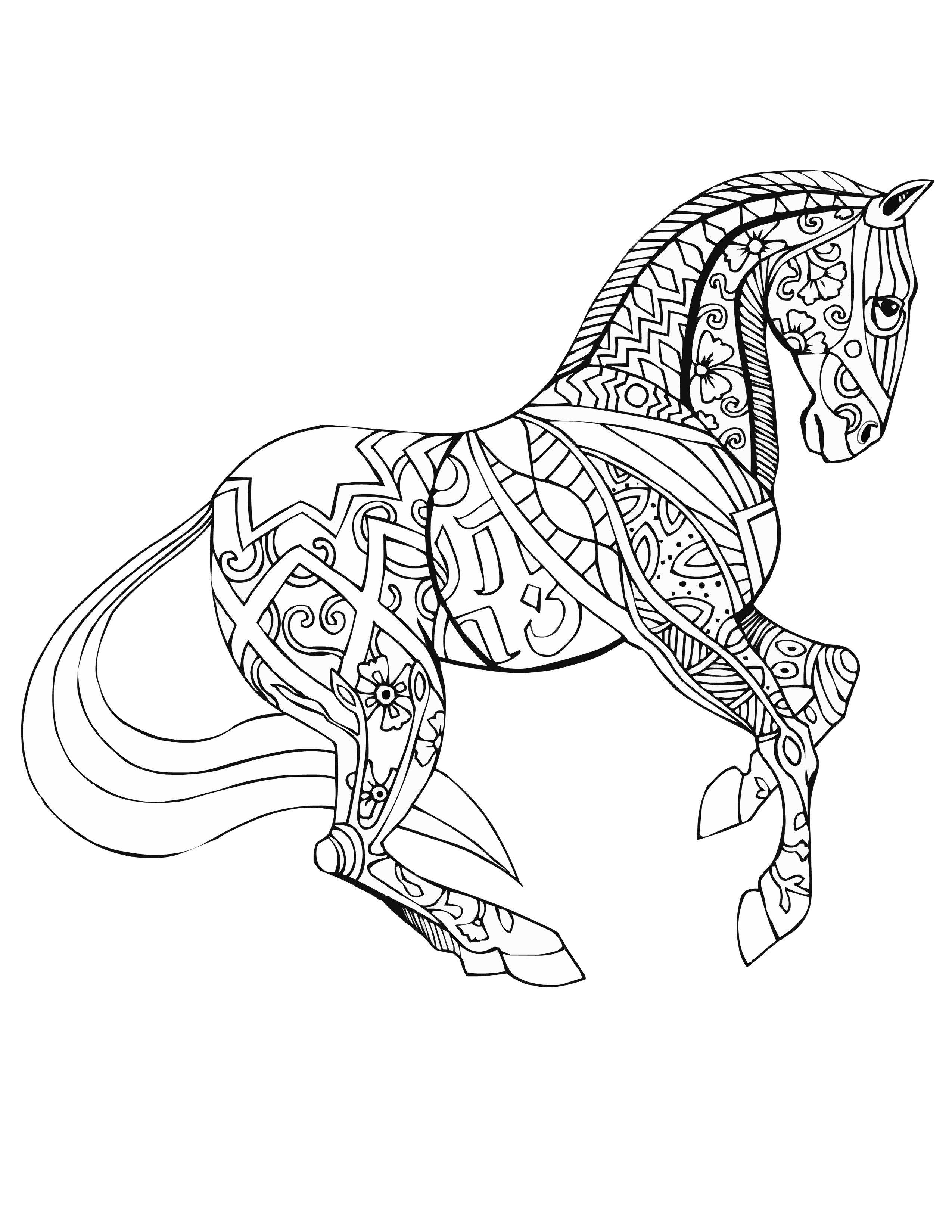 coloring pages of a horse realistic horse coloring pages to download and print for free a of pages horse coloring