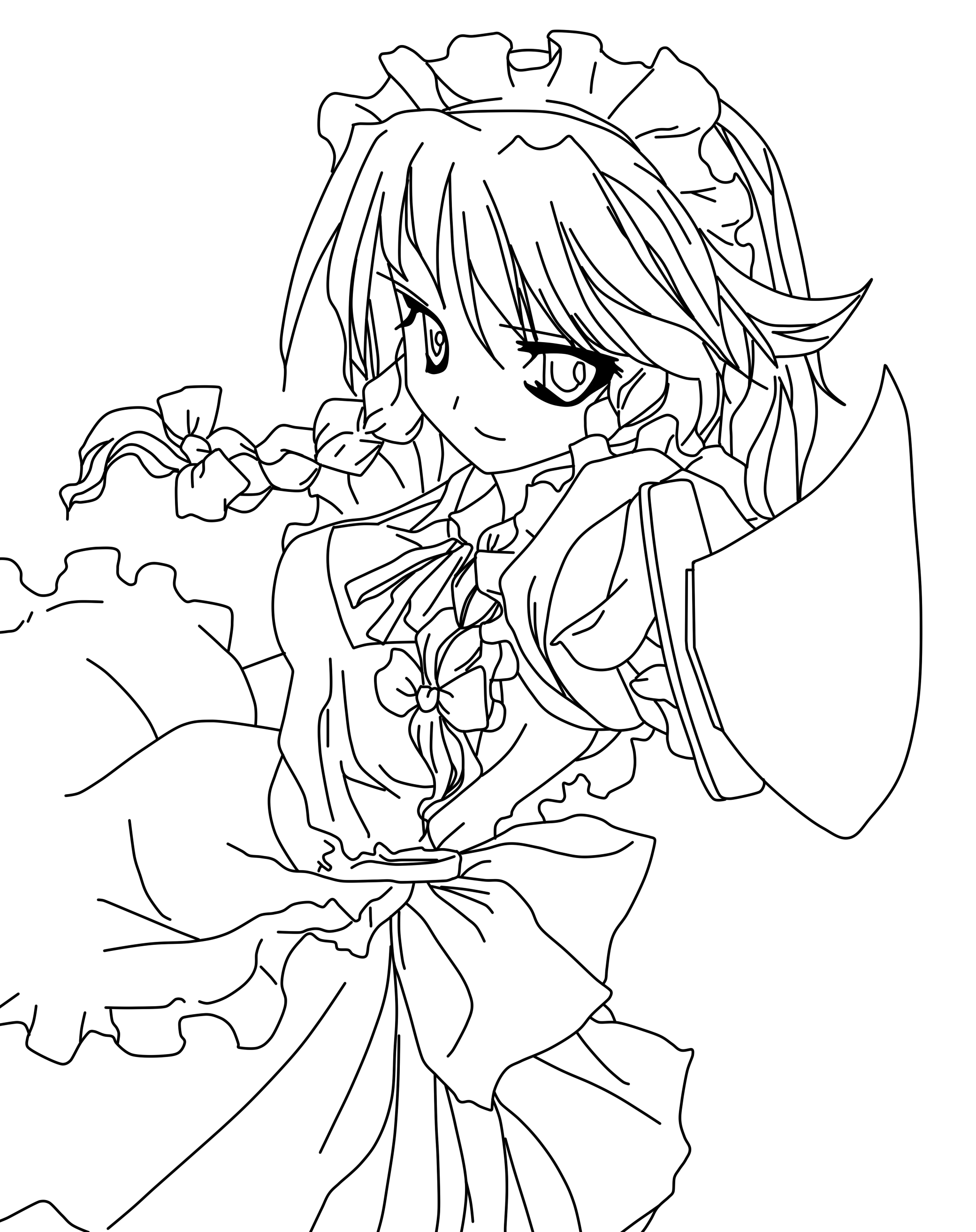 coloring pages of anime anime wolf girl coloring pages coloring pages for children pages anime of coloring