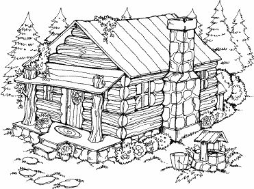 coloring pages of cabins cabin coloring pages at getcoloringscom free printable cabins coloring of pages
