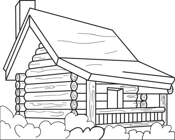 coloring pages of cabins log cabin coloring page clipart panda free clipart pages coloring cabins of