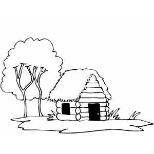 coloring pages of cabins log cabin coloring page coloring pages of cabins