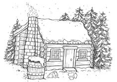 coloring pages of cabins log cabin coloring page free download on clipartmag cabins of pages coloring