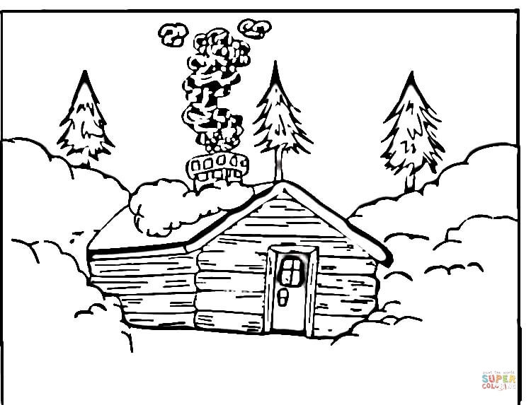 coloring pages of cabins log cabin drawing at getdrawings free download cabins pages of coloring