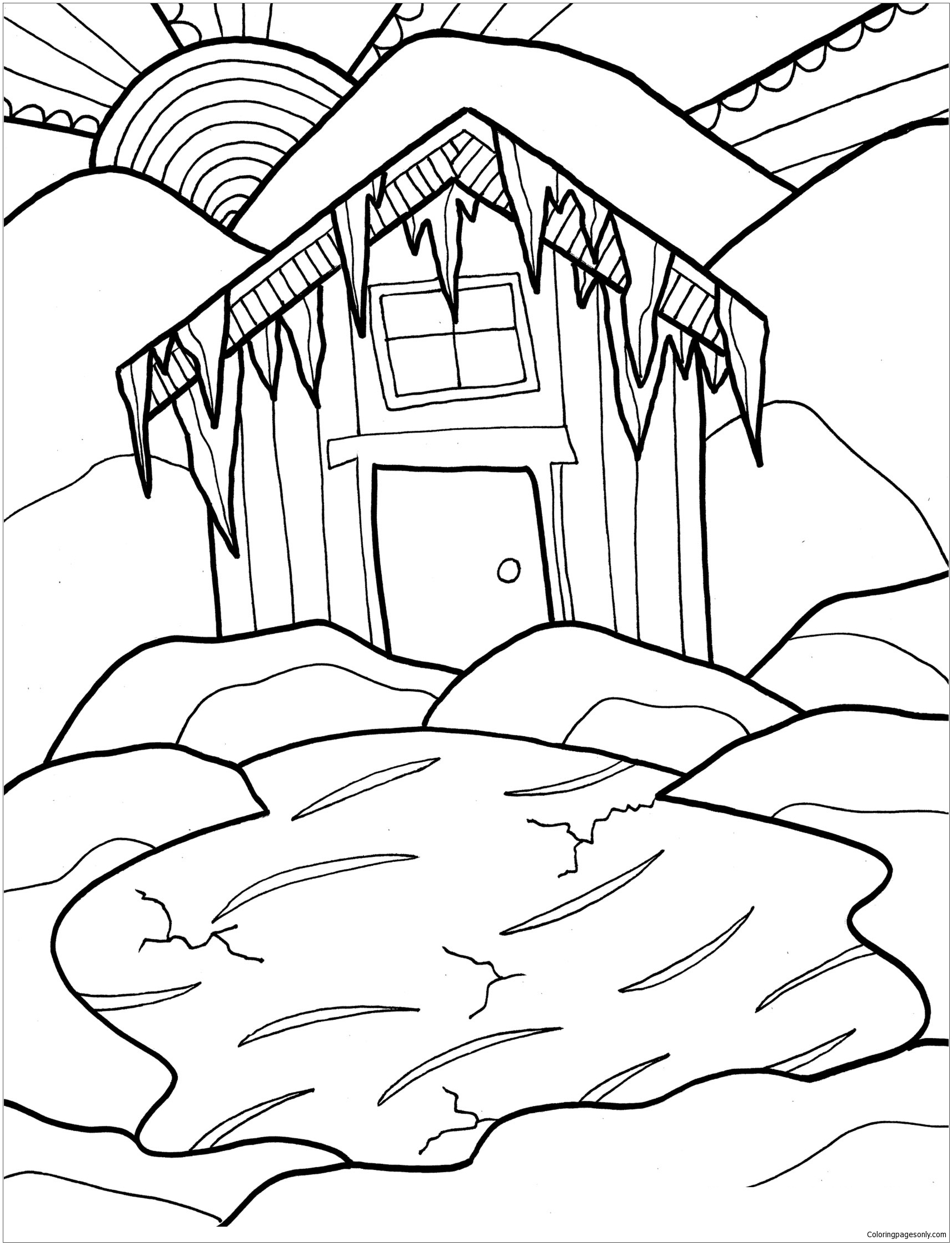 coloring pages of cabins log cabin drawing at getdrawings free download coloring pages cabins of