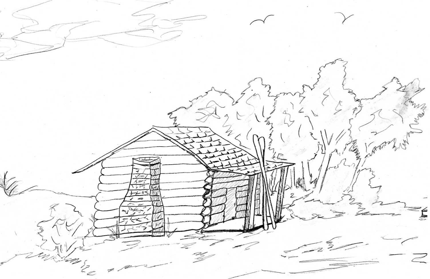 coloring pages of cabins log cabin woods coloring pages cabins of coloring pages