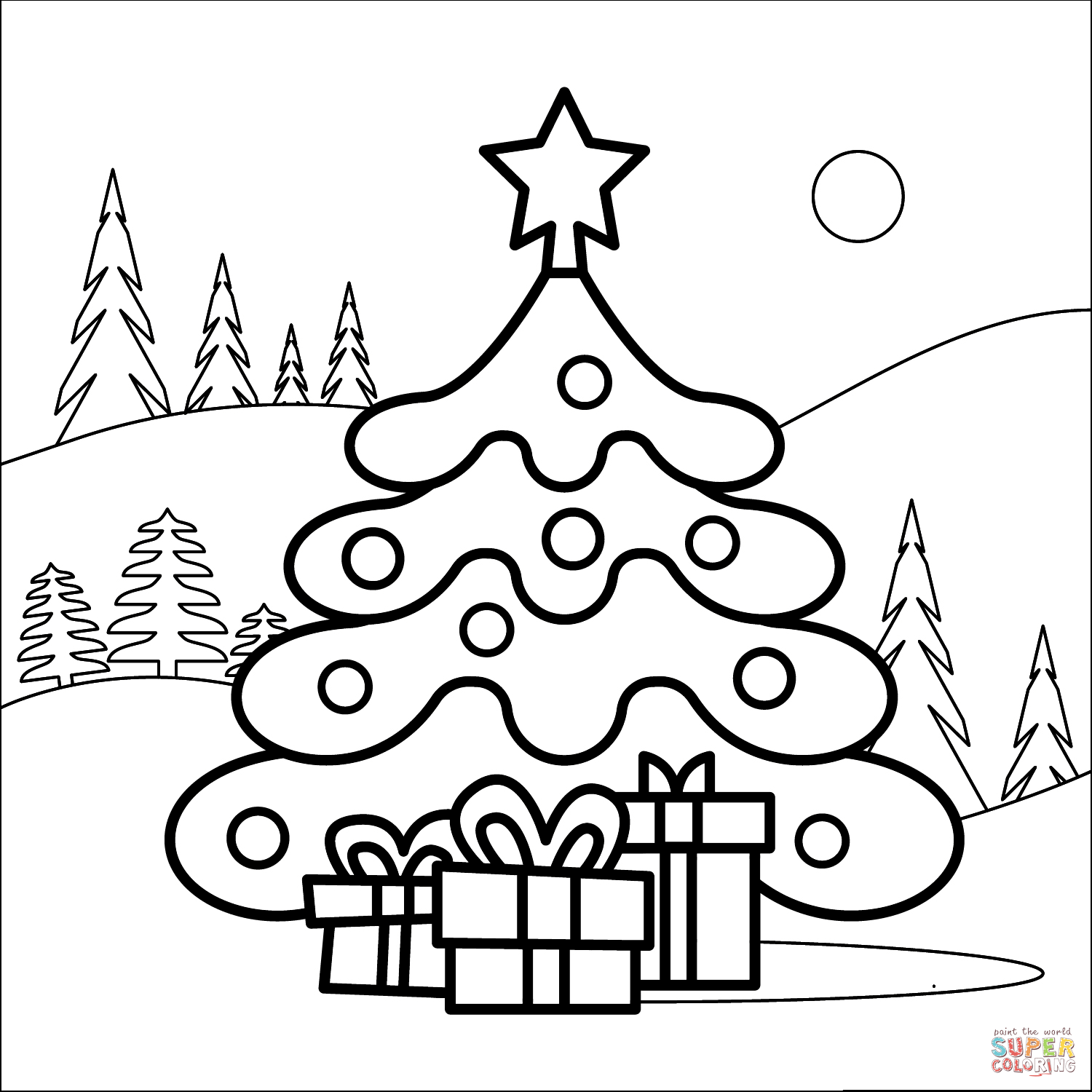 coloring pages of christmas trees christmas tree coloring pages for childrens printable for free of pages trees christmas coloring