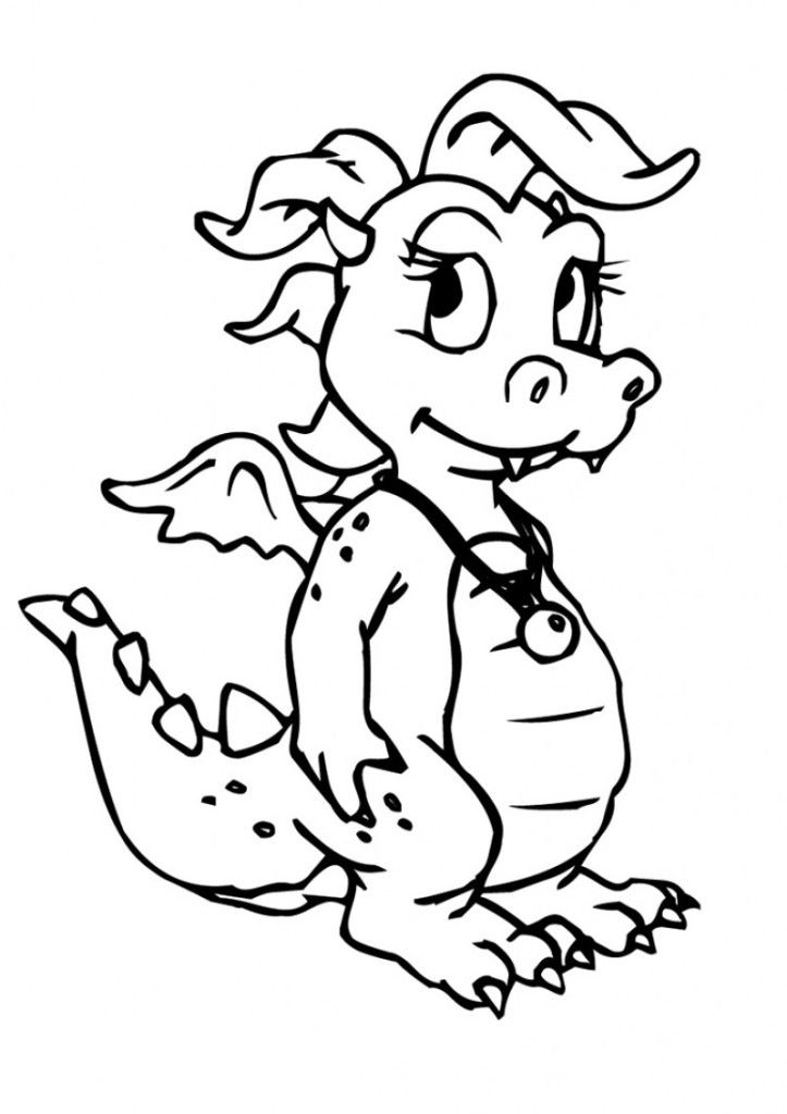coloring pages of cute dragons cute dragon sniffing flower coloring page free printable of pages dragons cute coloring